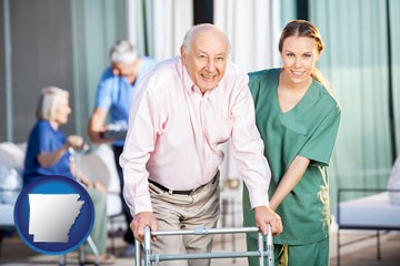 nursing care in a nursing home - with Arkansas icon
