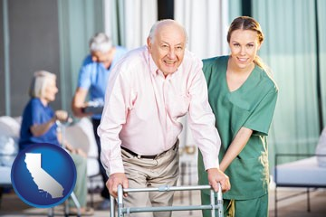 nursing care in a nursing home - with California icon