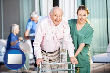 nursing care in a nursing home - with Colorado icon