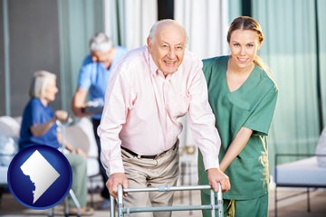 nursing care in a nursing home - with Washington, DC icon