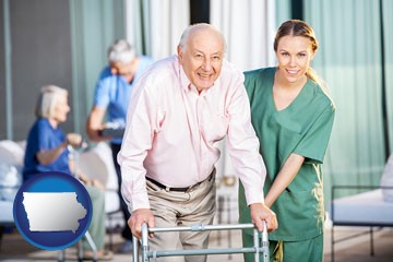 nursing care in a nursing home - with Iowa icon