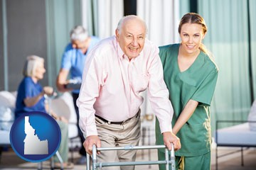 nursing care in a nursing home - with Idaho icon
