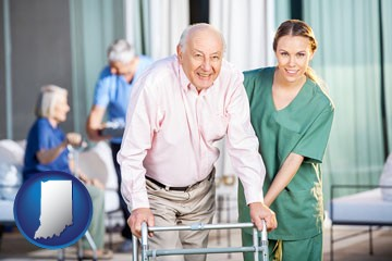 nursing care in a nursing home - with Indiana icon
