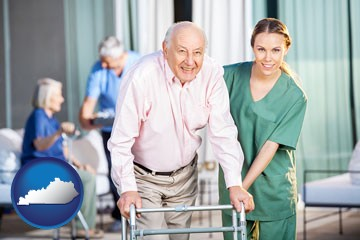 nursing care in a nursing home - with Kentucky icon