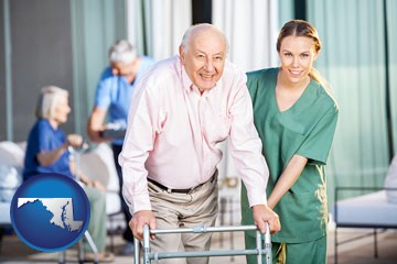 nursing care in a nursing home - with Maryland icon
