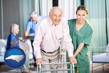 nursing care in a nursing home - with North Carolina icon