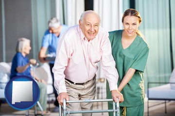 nursing care in a nursing home - with New Mexico icon