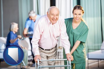 nursing care in a nursing home - with Nevada icon