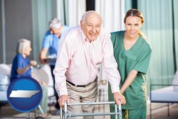 nursing care in a nursing home - with Tennessee icon
