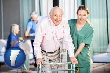 nursing care in a nursing home - with Vermont icon